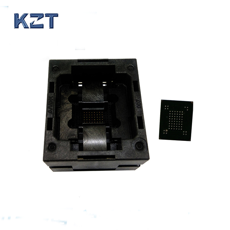 VFBGA63 BGA63 Burn in Socket Test Socket Pin Pitch 0.8mm IC Body Size 10.5x13.5mm,9x11mm Programmer Adapter Burning SocketVFBGA63 BGA63 Burn in Socket Test Socket Pin Pitch 0.8mm IC Body Size 10.5x13.5mm,9x11mm Programmer Adapter Burning Socket
