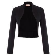 BP Women Coat Vintage Long Sleeve Open Front lady jacket Ruffled Hem Cotton Bole