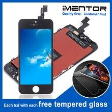 10 adet AAA iphone 5s lcd ekran dokunmatik ekran pantalla ücretsiz temperli cam 10 adet