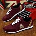 Марка Мужчины Повседневная Обувь Весна Осень Мода Мужская Обувь Zapatillas Hombre Черный Красный Синий Мужская Обувь Повседневная Обувь 39-44