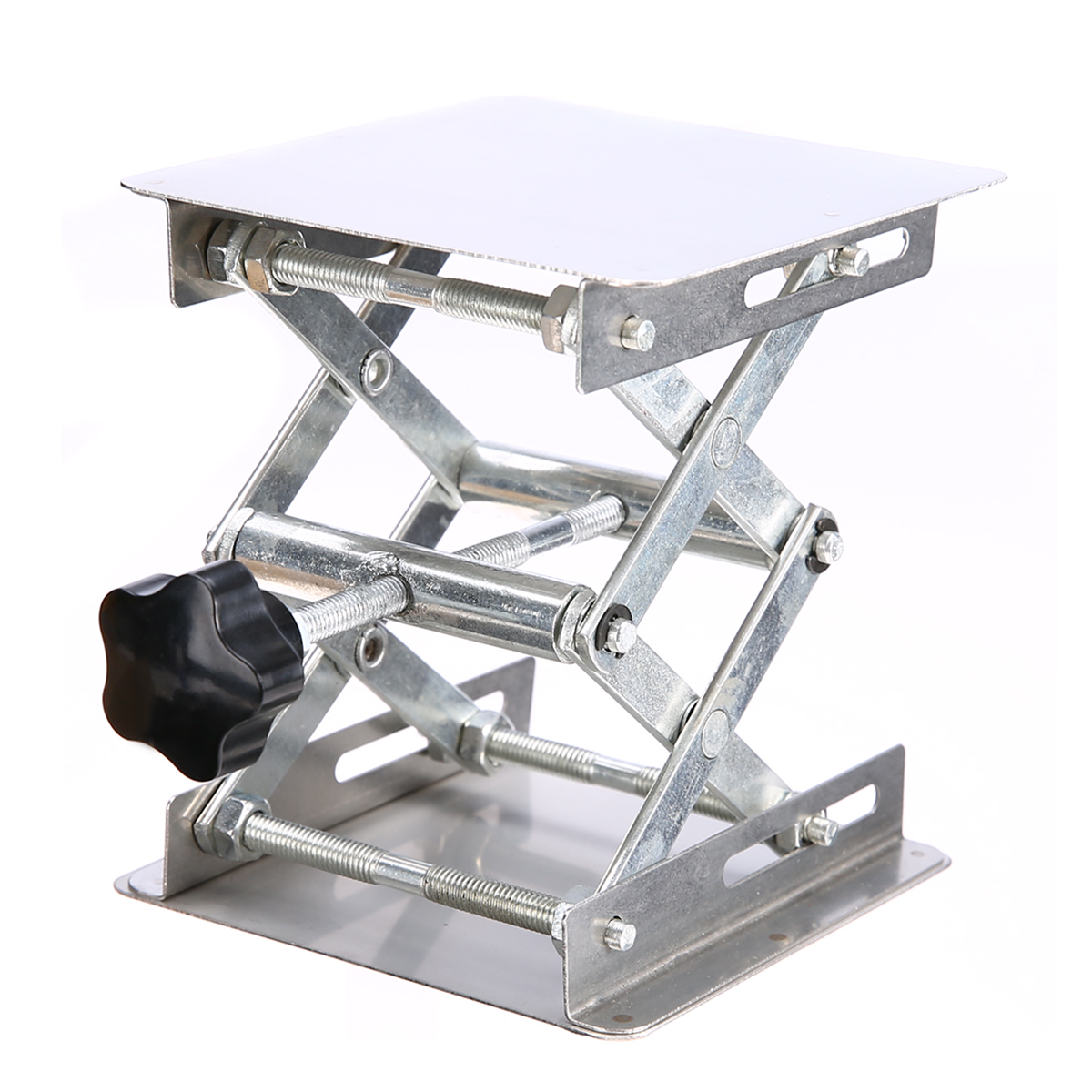 1pc Adjustable Laboratory Lifting Platform Lab Scissor Stand Rack 100x100mm Stainless Steel For For Physical Chemical