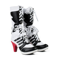 Motorcycle Joker And Harley Quinn Cosplay Shoes Costume Moive Suicide Squad Cosplay Boots Halloween For Women