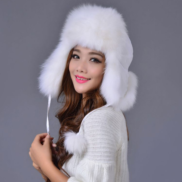 women winter fur hats whole fox/raccoon fur cap with real leather crown new fashion good quality unisex bomber Lei Feng hat