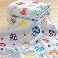 100% algodão gaze bebê towel lenços umedecidos kinderkleding meisjes toalhas dos desenhos animados da criança 6 camadas de musselina gaze towel recém-nascidos 50a016
