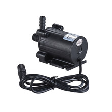 Compact Size Dual-Outlet Submersible Brushless Oil Water Pump Ultra-quiet Max. Lift 7M 600L/H DC 12/24V for Fish Tank Aquarium(China)