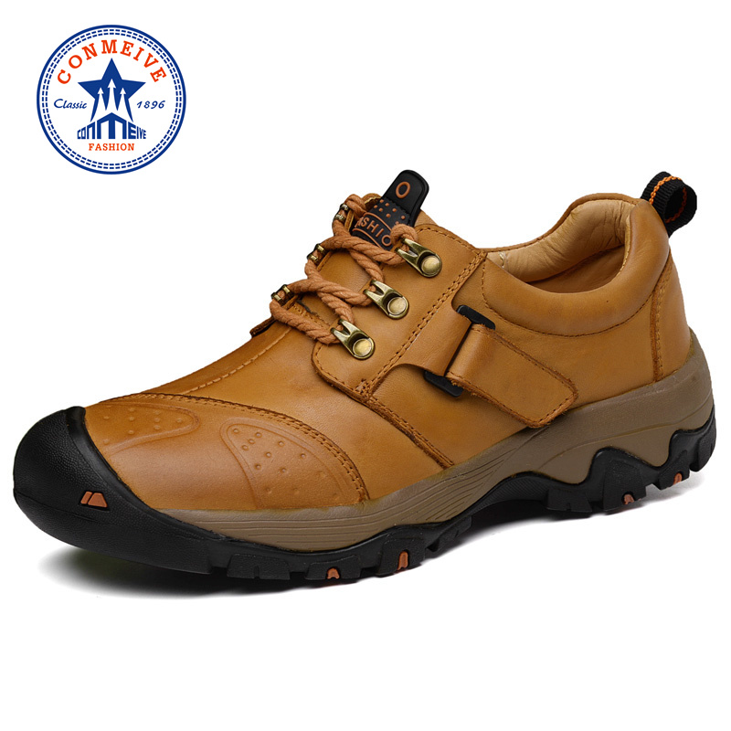 Real Winter Hiking Shoes Genuine Leather Warm Outdoor Trekking Boots Lace-up Climbing Mens Hunting Sneakers Men Male WalkingReal Winter Hiking Shoes Genuine Leather Warm Outdoor Trekking Boots Lace-up Climbing Mens Hunting Sneakers Men Male Walking