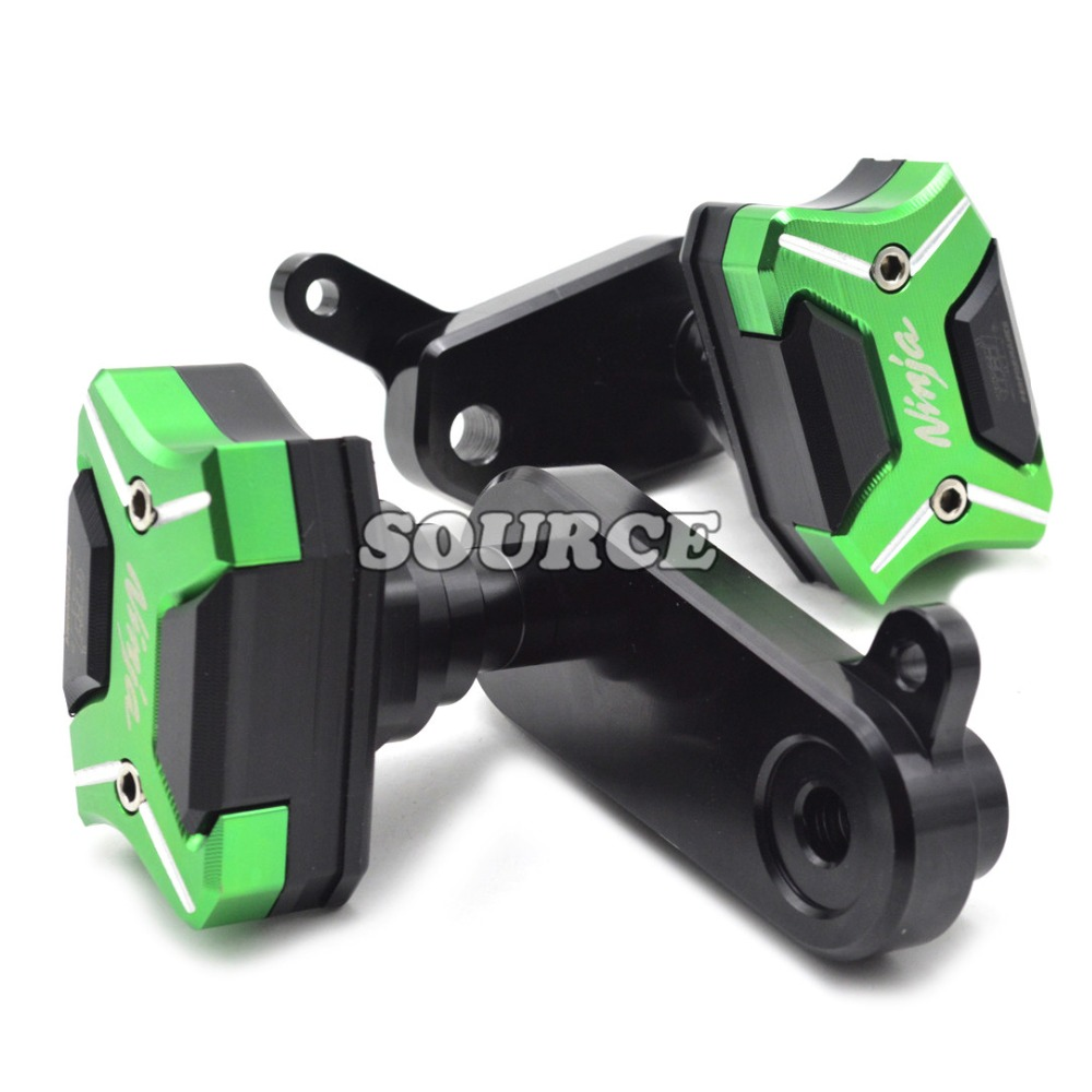 Green Frame Slider Motorcycle Frame Crash Pads Engine Case Sliders Protector For Kawasaki Ninja ZX6R/636 2009 2010 2011 2012 free shipping motorcycle engine cover frame sliders crash protector for honda cbr1000rr 2008 2009 2010 2011 2012