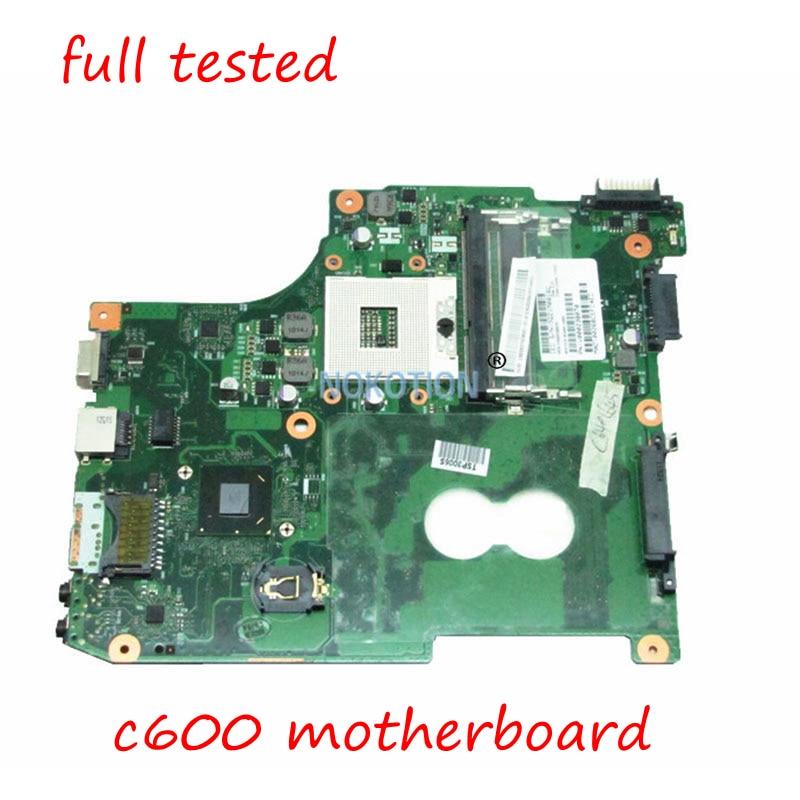 NOKOTION V000238070 Main board for toshiba satellite C600 C640 laptop motherboard Intel HM65 GMA HD3000 DDR3 full tested nokotion a000175380 laptop motherboard for toshiba satellite c840 l840 main board ati hd7670m graphics ddr3 daby3cmb8e0