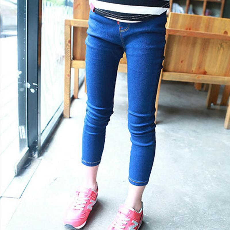 2015 New Brand Girls Jeans Korean Tight Jeans Girls Kids Pencil Pants Fashion Leisure Denim Girl Trousers Feet Jeans For Girls In Jeans From Mother Kids