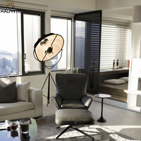 Retro Industrial Floor Lamp Radar Photographic Satellite Modern Simple Standing Lamp Tripod Nordic Floor Lamps for Living Room