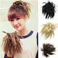 Натуральный Черный/Коричневый Короткие Волнистые парик Бомба Парики Ponytail Наращивание Волос Дешевые женщин Хвостики