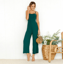 Hot Jumpsuit Women Playsuit Bodycon Sexy Backless High Waist Spaghetti Strap Casual Wide legs Pants Elegant Fashion Party цена в Москве и Питере
