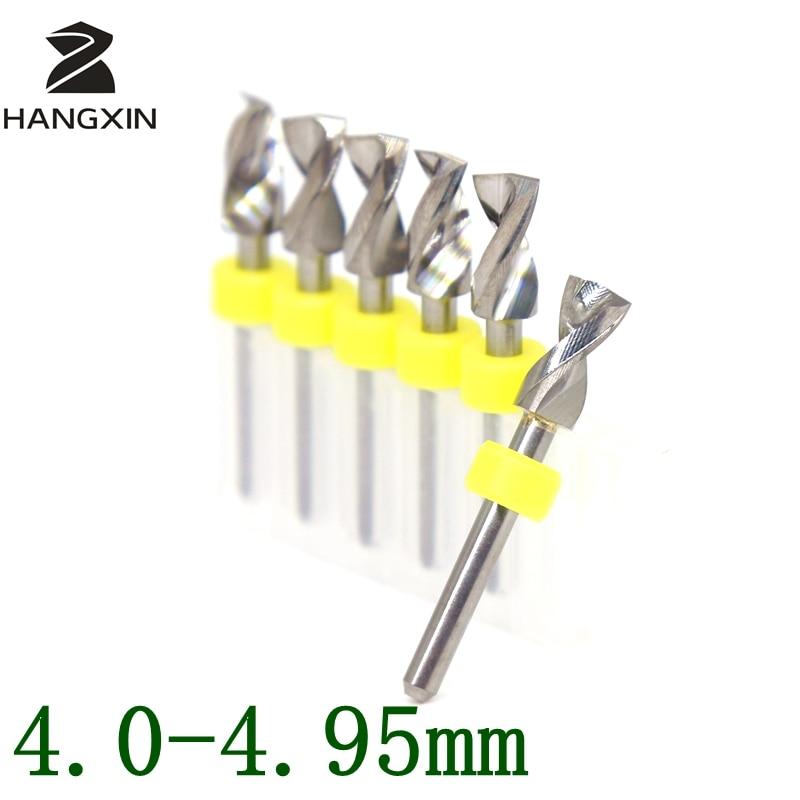 4,0-4,95mmPCB puurikomplekt metallist CNC ruuteri puidutöötlemise trükkplaadi mikrograveerimise tööpinkide tarvikud 5PCS