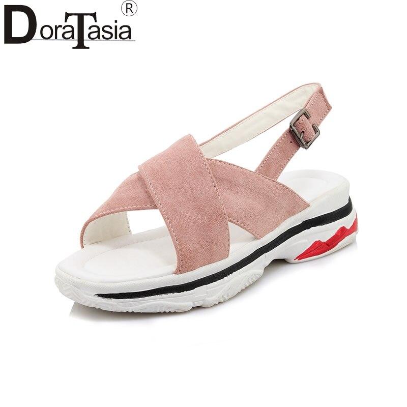 DoraTasia 2018 Small Plus Size 30-45 Customized Summer Leisure Sandal Shoes Women Fashion Causal Shoes Woman