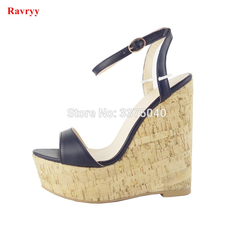 Ravryy Women High Heels Shoes Fashion Buckle Strap Wedges Sandals Ladies Platform Open Toe Pumps For Woman bigtree new women pumps high heels shoes sandals woman fashion open toe party wedding buckle strap stilettos sandals 34 39