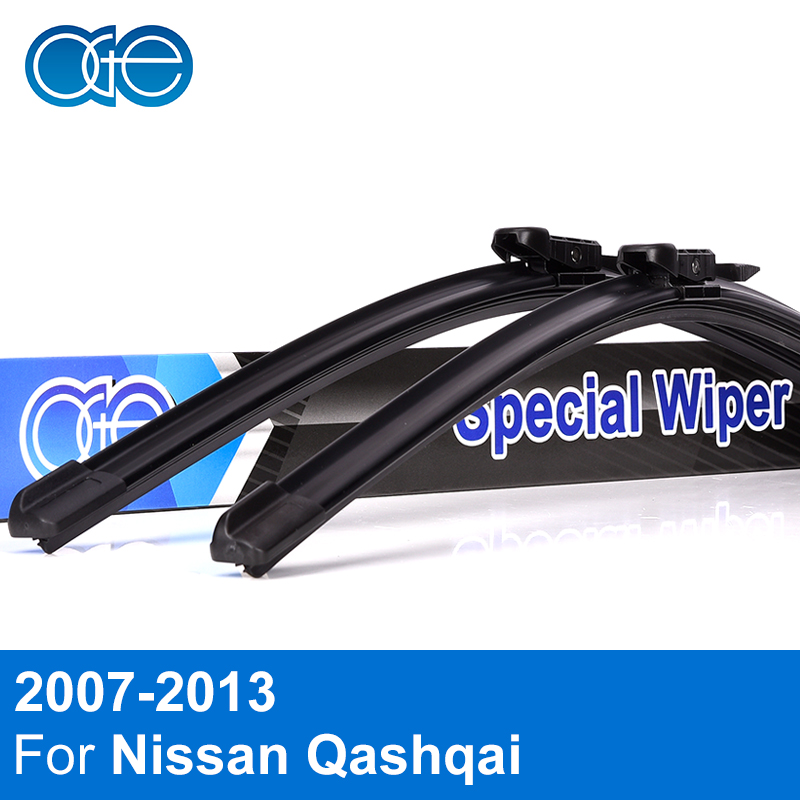 OGE Front And Rear Wiper Blades For Nissan Qashqai Dualis 2007 2008 2009 2010 2011 2012 2013 Windscreen Rubber Car Accessories decorative side bars rails roof rack silver fit for 07 12 nissan qashqai dualis 2007 2008 2009 2010 2011 2012 2013