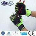 2016 NMSafety 13 gauge nylon liner coated nitril safety gloves sandy finish cut 5 gloves anti slip anti shock glove