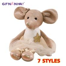 1 шт. 42 см милые балетные мыши плюшевые игрушки прекрасный туалетный ткань животные куклы мышки мягкие детские пальчиковые игрушки подарки на день рождения