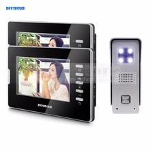 DIYSECUR 7″ Video Doorbell Video&Audio Remote Unlocking Night Vision Camera 700TVL 1V2