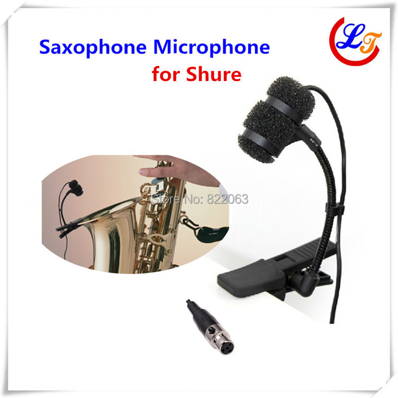 Professional Lapela Condenser Saxophone Microphone Music Instrument Microfone for Shure Wireless  System XLR mini Microphones  professional lapel music instrument microfone double bass microphone lapeal for shure wireless system xlr mini microphones