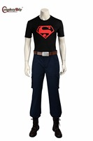 Cosplay Young Justice Super Boy Costume No Shoes Adult Men Halloween Carnival Cosplay Anime Young Justice
