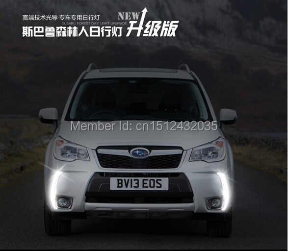 Osmrk free shipping, Guiding light style LED Car DRL daytime running lights with dimmer function for subaru forester 2013 2014 forester daytime light 2013 2016 free