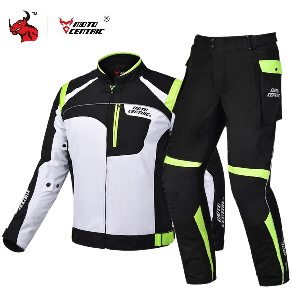 MOTOCENTRIC Motorcycle Jacket Motorcycle Pants Protective Gear Waterproof Moto Jacket Motocross Racing Riding Jacket Suits