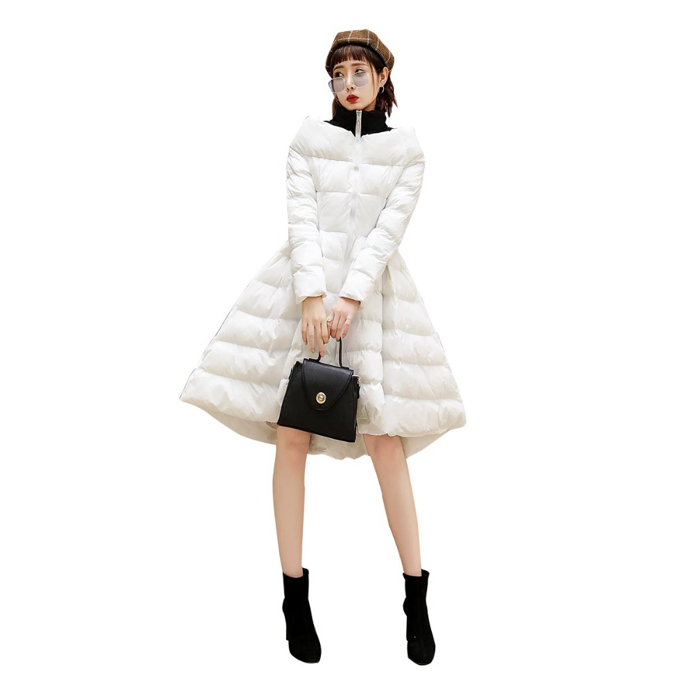 2019 New Woman Long Parker Style Large Size Jacket Fashion Cotton Coat Female Fur Collar Thick Winter Outerwear