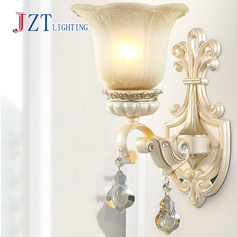 Z Best price led European wall lamp Stair lamp corridor lights TV wall lamps single double head send LED light  source z best price led downlight droplight double ball stair crystalline light creative bar hotel led crystal chandelier parts