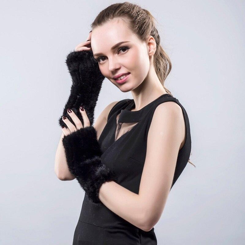 Prave rukavice od minore krzna 20cm, ženske rukavice, elegantne - Pribor za odjeću - Foto 2