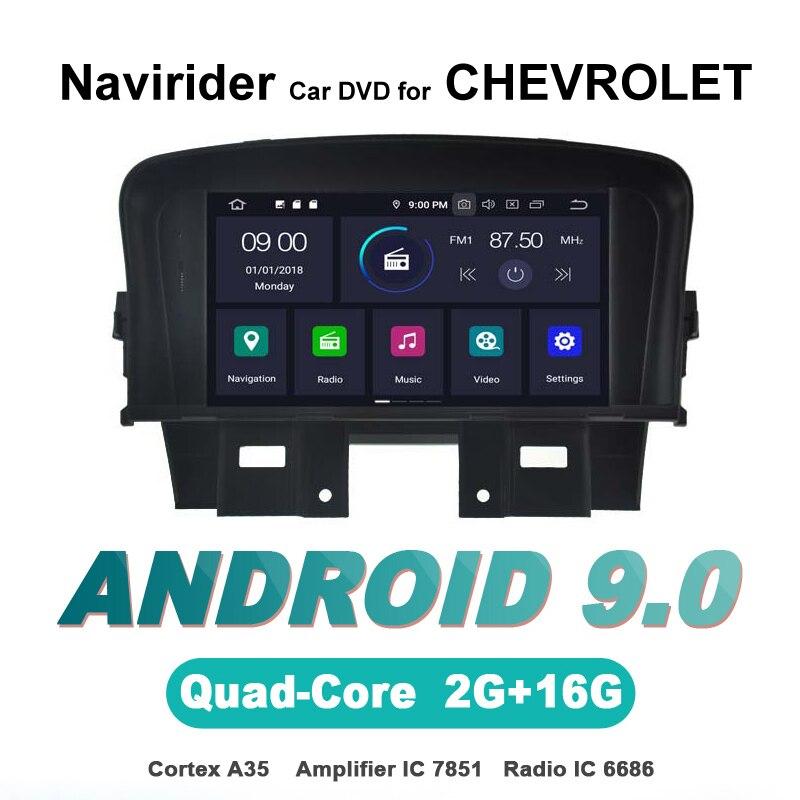 Navirider autoradio gps navigation android 9.0 autoradio lecteur pour CHEVROLET CRUZE 2008 bluetooth DVD stéréo AUTO accessoires