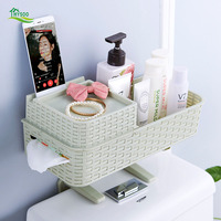 Free punch Bathroom racks Bathroom wall mount Storage rack Toilet bowl Plastic storage rack