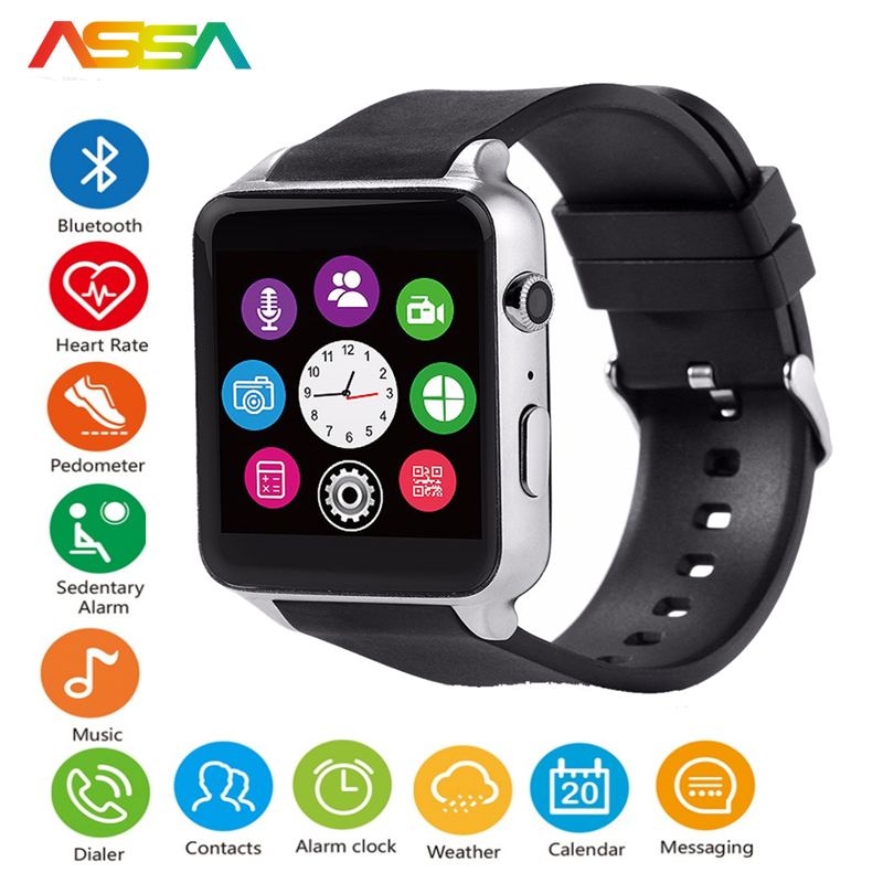 Bluetooth Sport Smart Watch Waterproof Heart Rate Monitor Smartwatch for IOS Android System Smartphone Support TF/SIM Card GT88