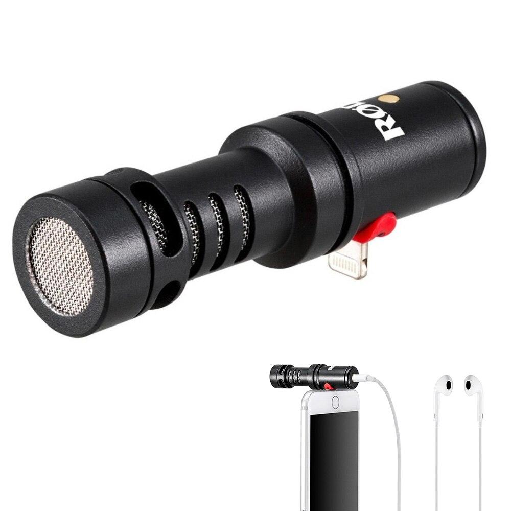 RODE Videomic ME-L profissional Microfone para relâmpago conector jack para o iphone X 7 além de 7 8 microfone Do Smartphone