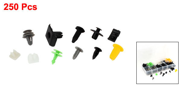Porta do carro Clipe de Plástico Rebites Parafusos Para Mazda R1 Bumper Mais caso Para 250 PCS Amarelo Preto Verde Branco Marfim Cor Cinza