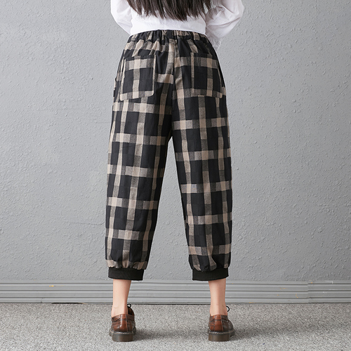 New 2018 Spring And Autumn Artistic Vintage Trousers Women Harlan Pants Woman Pants Loose Linen Pants For Women Plus Size Women 3