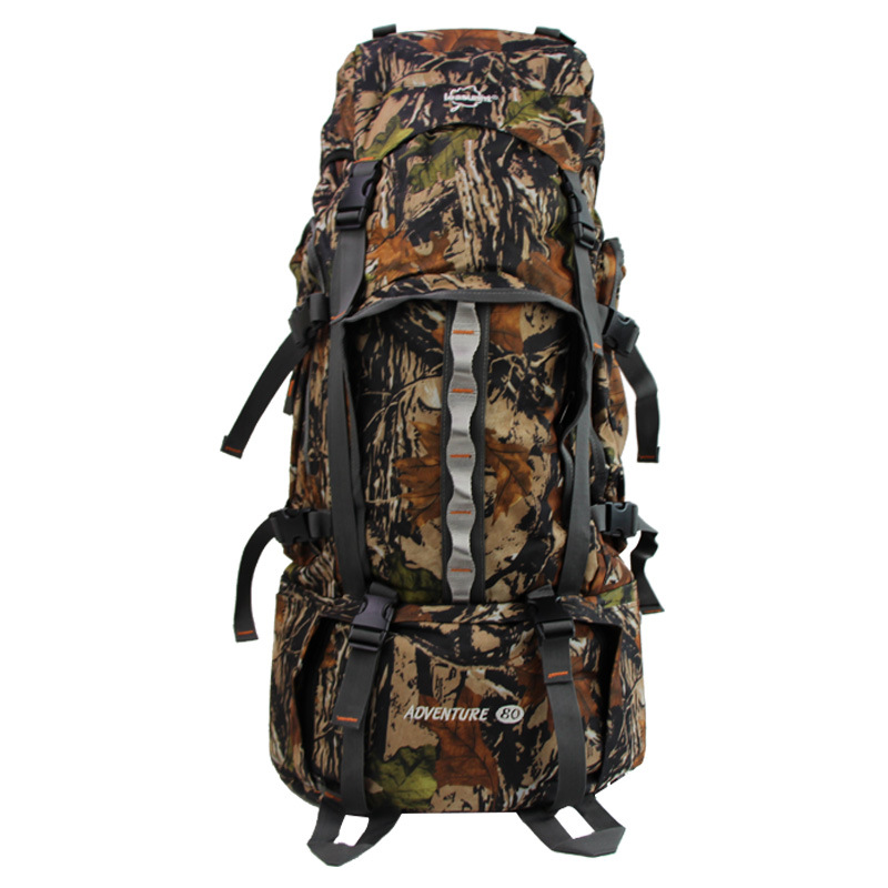 80L and 60L Outdoor Camouflage Mountaineering    Hiking Backpack Large Capacity Backpack Military Bag Camping Backpack A5142 creeper large capacity tactical bag mountaineering bag 65l outdoor camping hiking camouflage backpack cover military backpack