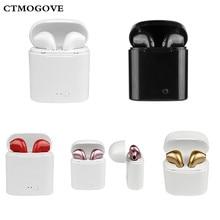 CTMOGOVE i7 СПЦ Мини Bluetooth наушники Беспроводной стерео наушники-вкладыши стерео гарнитуры для iPhone7 8 P X samsung Xiaomi huawei