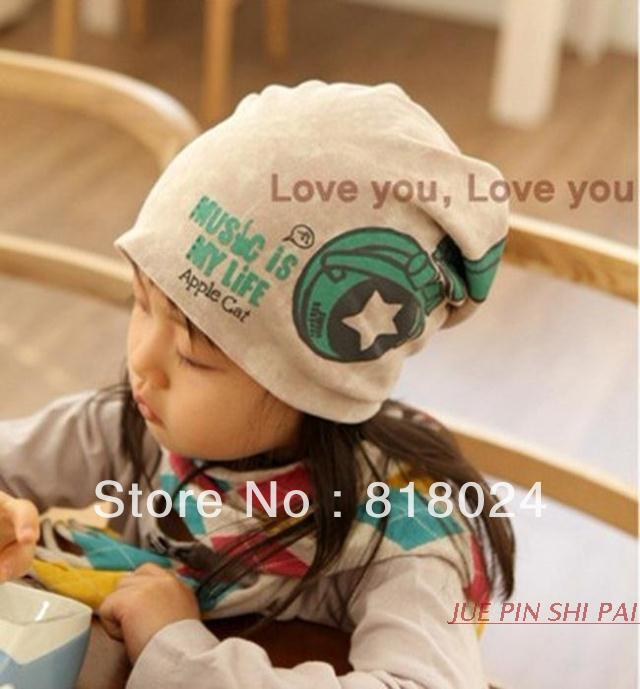 2017 Spring 100% Cotton Children Beanie Hats Boys & Girls Pocket Caps Lovely Pattern Kids Skullcap for baby 6-36months new star spring cotton baby hat for 6 months 2 years with fluffy raccoon fox fur pom poms touca kids caps for boys and girls