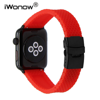 Silicone Rubber Strap With Quick Release Adapters For 38mm 42mm IWatch Apple Watch Wrist Band Safety
