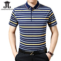 2017 Striped Men polo shirts Summer shorts half polo for men clothing slim fit collar polo line XXXL camisa homme M-3XL
