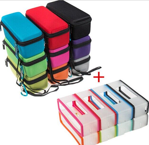 1에 2 색 하드에 바 운반 지퍼 스토리지 박스 가방 + - 휴대용 오디오 및 비디오
