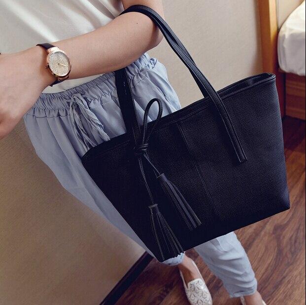 MIWIND fashion formal women's vintage handbag brief one shoulder bags portable gray /black/pink/green large capacity bag