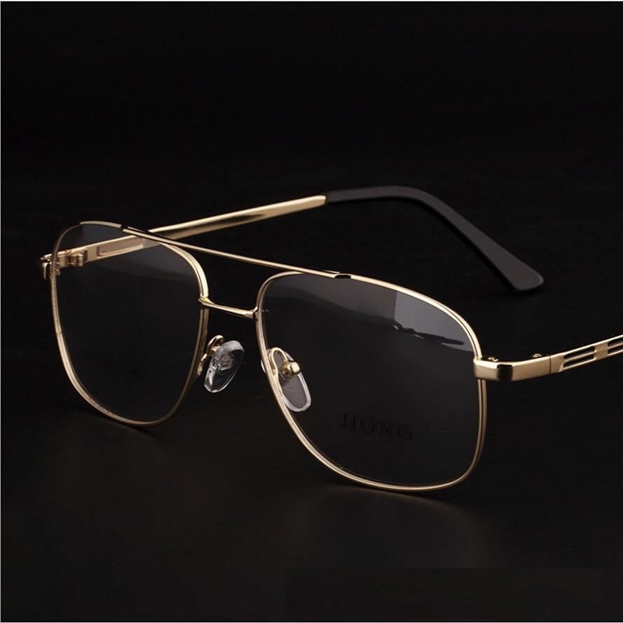 Brand Designer Retro Gold Eyeglasses Frames Men Eye