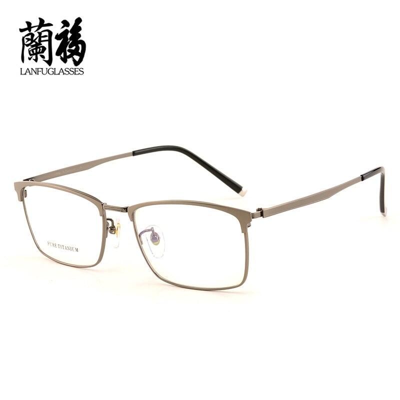 Reine titanium brillengestell vollformat brillen rahmen männer ...