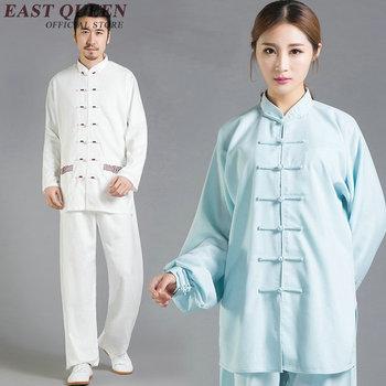 Wholesale tai chi uniform long sleeve unisex tai chi clothing soft cotton kungfu clothing large size XXXL AA2702 YQ