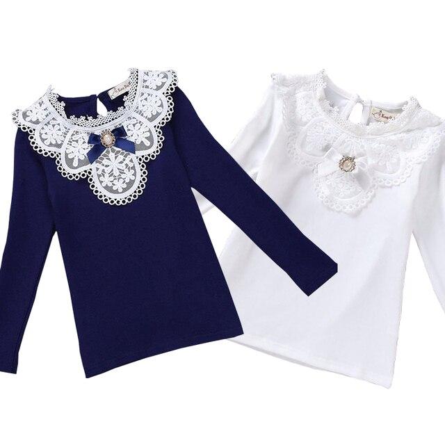 8378165be € 8.85 41% de DESCUENTO|Blusas para niñas 2018 ropa de primavera para  niñas, ropa para niñas, Blusa de algodón, camisa de encaje para niños, ...