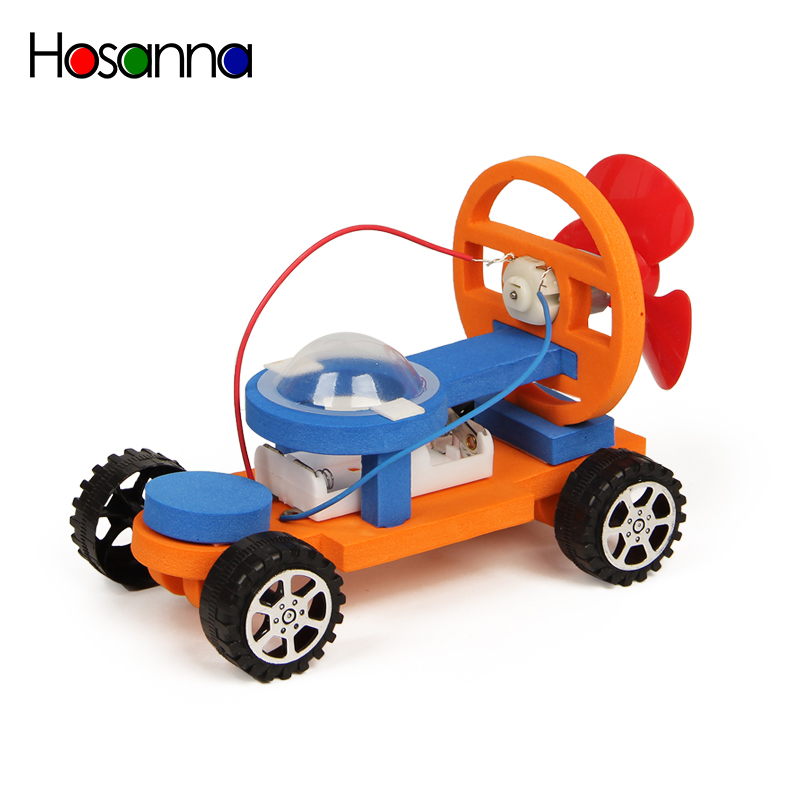 STEM Kids Science Wooden Toys DIY Electric Car Model Kit Experiment Discovery Amazing Assembling Educational Toys for Children