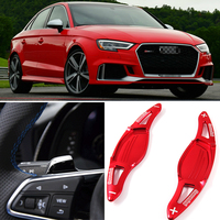 tommia For Audi RS3 2017 2018 RS4 2018 RS5 2017 2018 2pcs Steering Wheel Aluminum Shift Paddle Shifter Extension Car styling