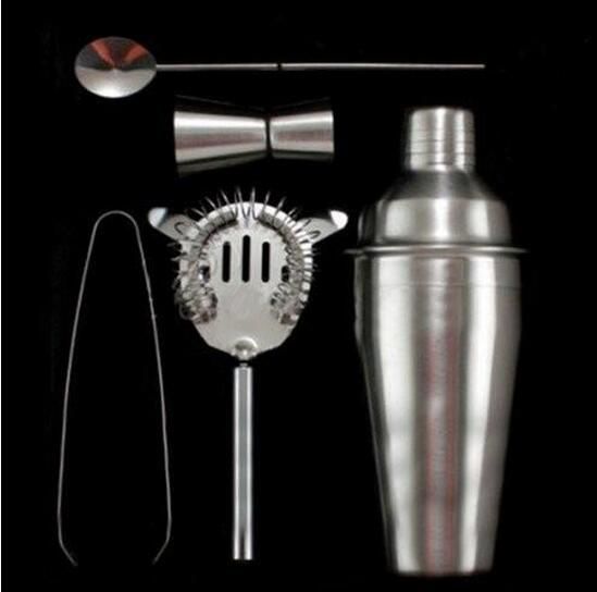 16Pcs Cocktail Shaker Mixer Drink Stainless Steel Bartender DIY Tools Kit USA
